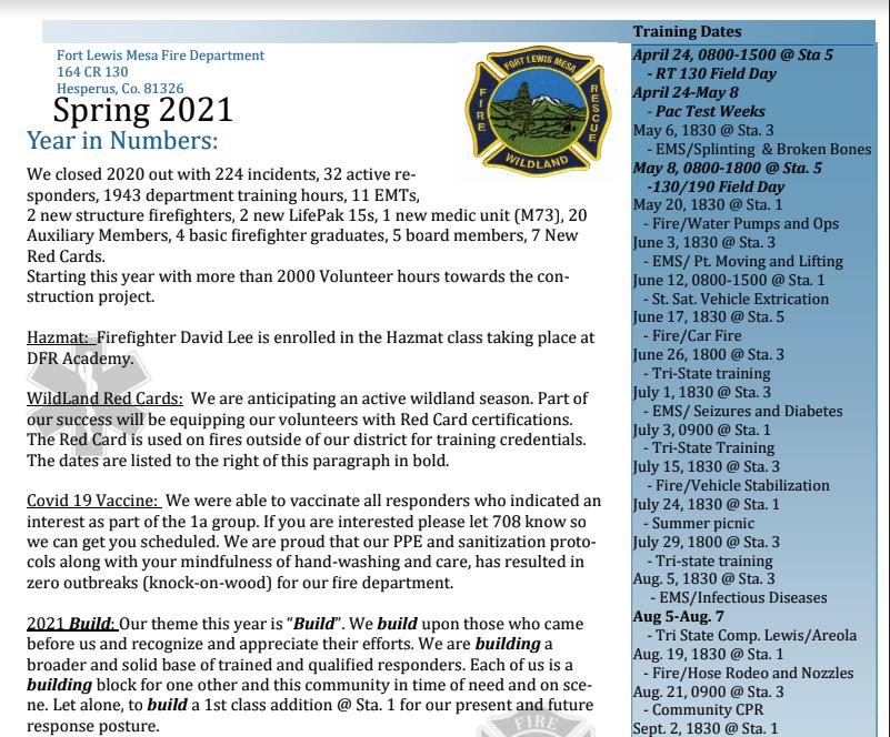 Spring 2021 FLM Newsletter
